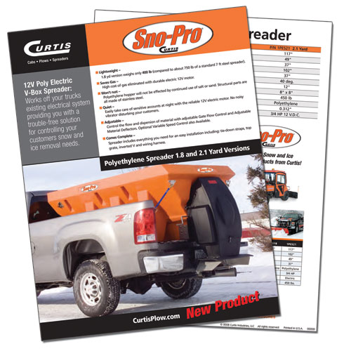 Sno-Pro Spreader Data Sheet