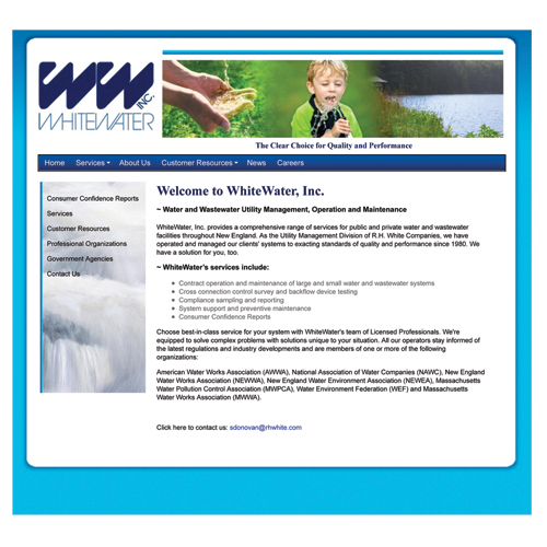White Water Inc Website